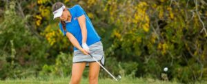 Nikki Marquardt Playing TU Golf in Undergrad